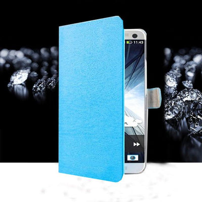Fitted Cases - (3 Styles) Case For Samsung Galaxy J5 SM-J500F Pu Leather Flip Phone Stand Case For Samsung Galaxy J5 2015 Samsung J5 J5008 - MW Sky Blue  jetcube
