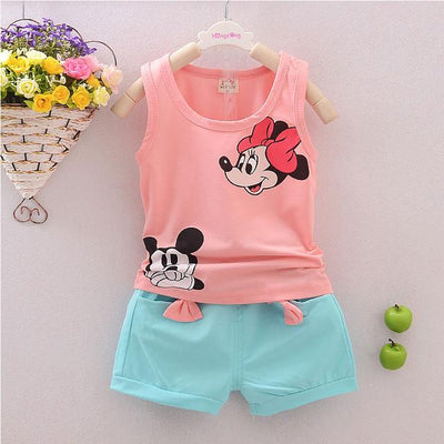 2016 Minnie Spring Baby Clothing Sets Children Boys Girls Kids Brand Sport Suits Tracksuits Cotton Short + Pants 2pcs Clothing Sets MCAGTZ BABY Store- upcube
