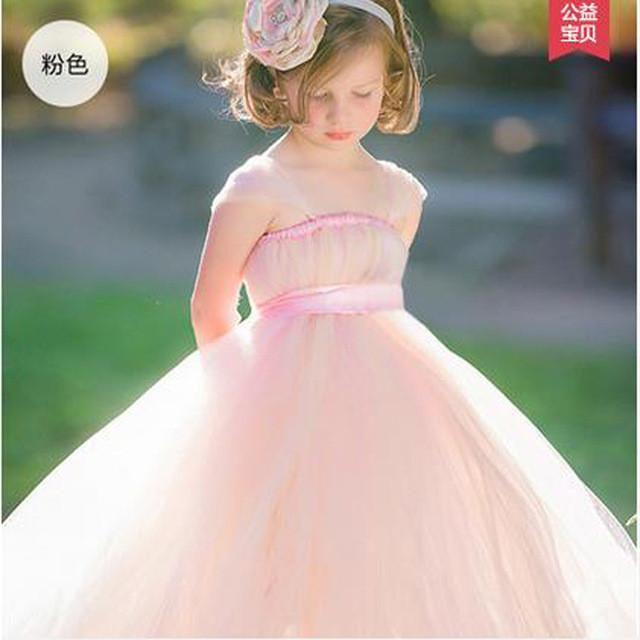 2017 New Arrival Flower Girl Dress Purple Elegant Cute Small Girl