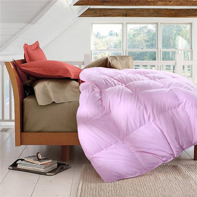 Comforters - 100% cotton Adult white duck/goose down winter quilt comforter blanket duvet filling with cotton cover twin queen king size - 150x200cm / Pink  jetcube