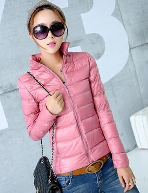 Down Coats - 2014 New Designer Fashion Ladies Short Winter Overcoat Women Brand 90% White Duck Down Coat Jackets Plus Size XXXL - Pink / S  jetcube