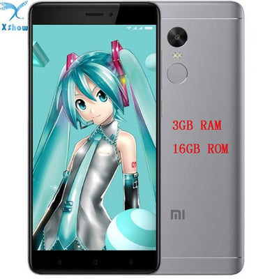 "Cell Phone - 100% Original Xiaomi Redmi note 4X Snapdragon 625 3GB RAM 16GB ROM OCTA Core 5.5 "" 1080P MIUI 8 Fingerprint ID note4 4G FDD LTE - add glassfilmtpucase / Platinum silver gray  jetcube"