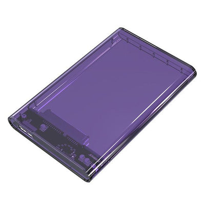 Digital Cables - 2.5 inch Transparent USB3.0 to Sata 3.0 HDD Case Tool Free 5 Gbps Support 2TB UASP Protocol Hard Drive Enclosure - (2139U3) - Purple  jetcube
