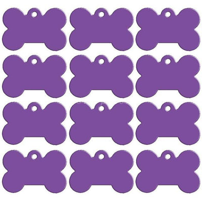 Dog Accessories - 100 pcs/lot Aluminum Pet ID Tag Bone Shape Double Sided Custom Engraved Dog Cat Pet Name Phone Number ID Tag Charm Personalized - Purple / 51x36xmm  jetcube