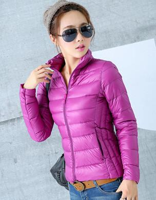 Down Coats - 2014 New Designer Fashion Ladies Short Winter Overcoat Women Brand 90% White Duck Down Coat Jackets Plus Size XXXL - Purple / S  jetcube