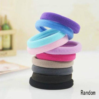 Hair Accessories - 10 pcs Randomly/Black Headwear Women Lady Girls Elastic Hair Rope Ring Hairband Ponytail Holder Hair Band Accessories - Random 10 pcs  jetcube