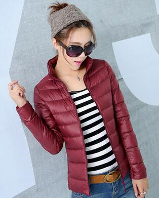 Down Coats - 2014 New Designer Fashion Ladies Short Winter Overcoat Women Brand 90% White Duck Down Coat Jackets Plus Size XXXL - Red / S  jetcube