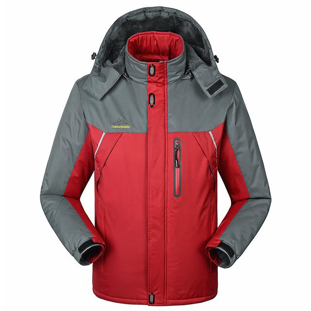 Jacket - -30 C FIT Plus Thick Velvet Down & Parka coat 6XL 7XL 8XL 2017 winter jacket men waterproof windproof chaquetas hombre - Red / M  jetcube