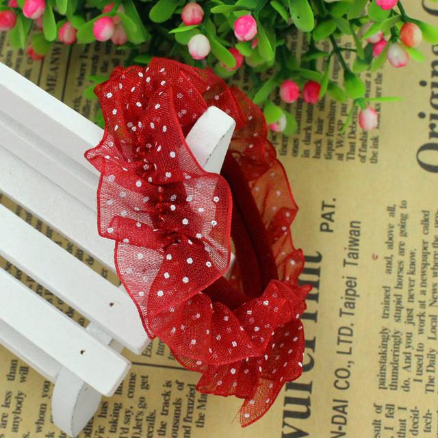 Hair Accessories - 10pcs/lot Lace Hair Holders Elastics 2016 New 12 Colours Fashion Candy Colours Child Girls' Rubberbands Tie Gum Hair Accessories - Red  jetcube