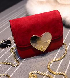 Shoulder Bags - !evening bag Peach Heart bag women pu leather handbag Chain Shoulder Bag messenger bag fashion women clutches YK40-906 - Red  jetcube