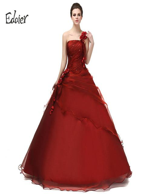 Formal Prom Dresses Edaier Sexy One Shoulder Organza Fashion Young