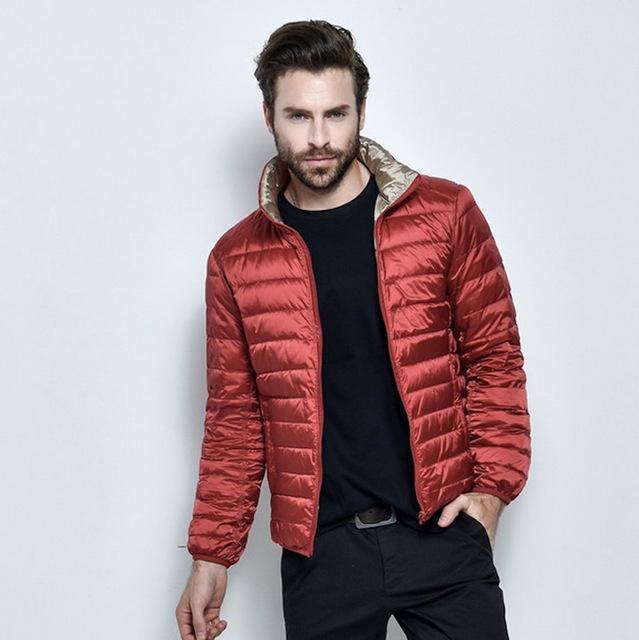 2017 Autumn Winter Double Side light Duck Down Jacket Mens Clothing Outwear coats and jackets Warm Two Color Side boys clothes