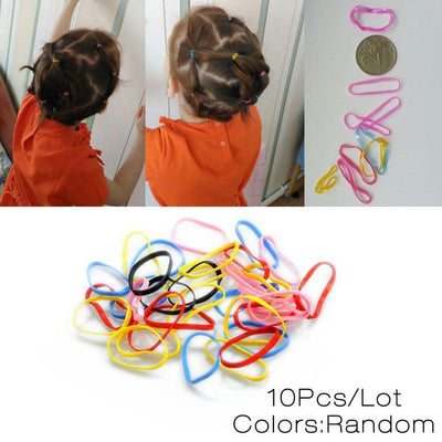 Baby Accessories - 10 Pcs New Korean Fashion Women Hair Accessories Cute Black Elastic Hair Bands Girl Hairband Hair Rope Gum Rubber Band E10093 - Rubber Rope  jetcube