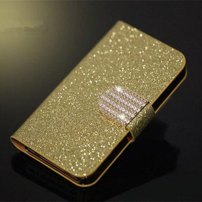"Fitted Cases - (3 Styles) Flip For Wiko U Feel Lite Case Fashion Pu Leather Flip Cover Capa For Wiko UFeel Lite 5.0"" Fundas Coque Stand Case - SF Golden Diamond  jetcube"