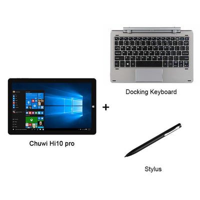 "Laptop - 10.1"" Chuwi Hi10 Pro 2 In 1 Tablet PC Superior Metal Tablet Intel Cherry Trail X5-Z8350 Windows 10 & Android 5.1 4G 64G IPS HDMI - Set2  jetcube"
