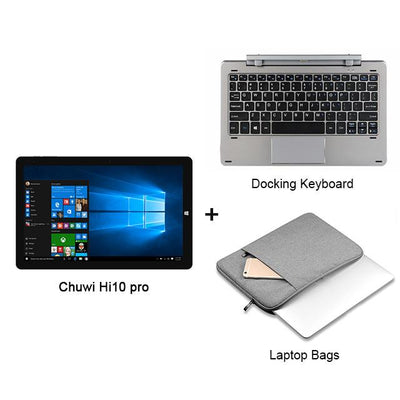 "Laptop - 10.1"" Chuwi Hi10 Pro 2 In 1 Tablet PC Superior Metal Tablet Intel Cherry Trail X5-Z8350 Windows 10 & Android 5.1 4G 64G IPS HDMI - Set3  jetcube"