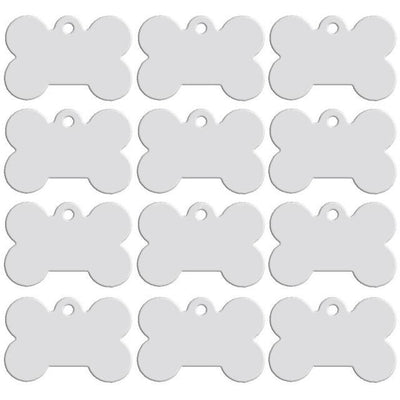 Dog Accessories - 100 pcs/lot Aluminum Pet ID Tag Bone Shape Double Sided Custom Engraved Dog Cat Pet Name Phone Number ID Tag Charm Personalized - Silver / 51x36xmm  jetcube