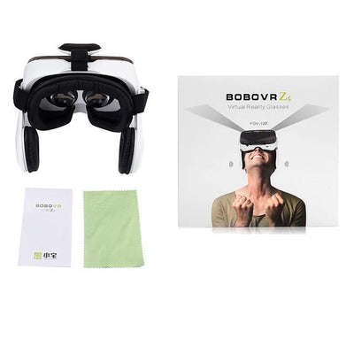 VR/AR Devices - (Ship From RU) BOBOVR Z4 Mini Virtual Reality 3D glasses Cardboard 120 Degrees FOV  VR Box Headset 3D with Bluetooth Remote - White BOBOVR Z4  jetcube
