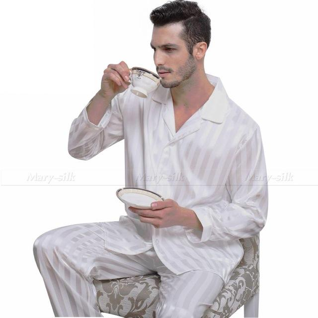 Mens Silk Satin Pajamas Set Pajama Pyjamas PJS Sleepwear Set Loungewear S  c28dd7912