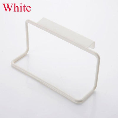 Kitchen Storage - 1Pc Candy Colors Over Door Tea Towel Holder Rack Rail Cupboard Hanger Bar Hook Bathroom Kitchen Top Home Organization - White  jetcube