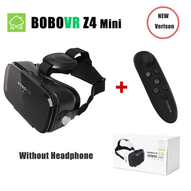 VR/AR Devices - (Ship From RU) BOBOVR Z4 Mini Virtual Reality 3D glasses Cardboard 120 Degrees FOV  VR Box Headset 3D with Bluetooth Remote - Z4 MINI with remote  jetcube