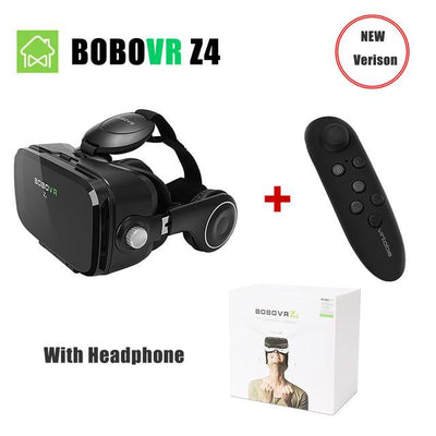 VR/AR Devices - (Ship From RU) BOBOVR Z4 Mini Virtual Reality 3D glasses Cardboard 120 Degrees FOV  VR Box Headset 3D with Bluetooth Remote - Z4 With remote  jetcube