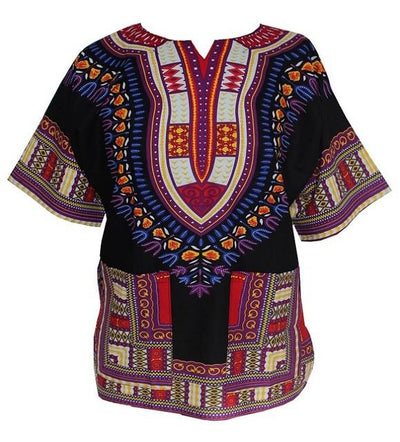 T-Shirts - (fast shipping) 2016 Newest Fashion Design African Traditional Print 100% Cotton Dashiki T-shirt for unisex - black / L  jetcube