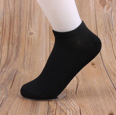 Socks - (10Pairs/lot)Wholesale Summer Solid Thin Short Women's Socks Female Cotton Low Cut Ankle Socks Ladies Colorful Cute Socks Boat - black  jetcube