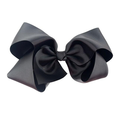 Hair Accessories - 10 pcs/lot 3 inch Grosgrain Ribbon 8 inch Big Hair Bow Boutique Hair Bow For Girls Hair Bow With Clip ZH10-14022015 - black  jetcube