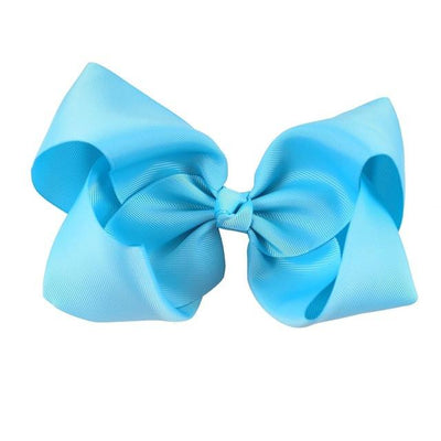 Hair Accessories - 10 pcs/lot 3 inch Grosgrain Ribbon 8 inch Big Hair Bow Boutique Hair Bow For Girls Hair Bow With Clip ZH10-14022015 - blue  jetcube