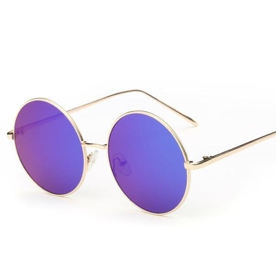 Sunglasses - 2016 Fashion Hot Vintage Round lens Sunglasses Men/women Polarized Gafas Oculos Retro Coating Sunglasses  Metal Frame Sunglasses - blue  jetcube