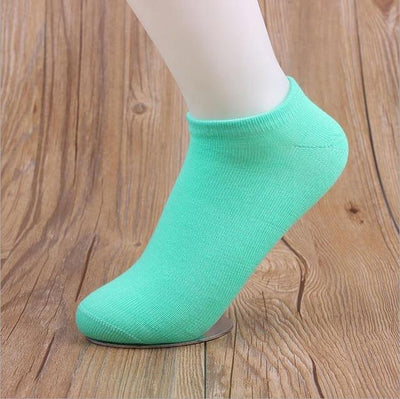 Socks - (10Pairs/lot)Wholesale Summer Solid Thin Short Women's Socks Female Cotton Low Cut Ankle Socks Ladies Colorful Cute Socks Boat - blue  jetcube