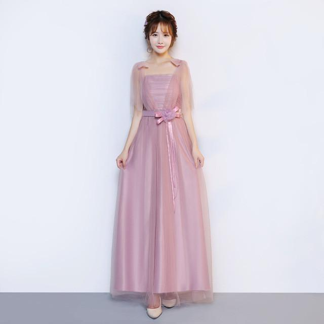 ZX568-L#Real photos wholesale 2016 new fashion show banquet toast Wedding long Bridesmaid Dresses cheap blue
