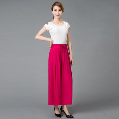 - #1627 2017 Summer Wide leg pants Loose trousers women Skirt pants Pantalon femme Flare pants Wide trousers Pantalones mujer - colour 1 / XXL  jetcube