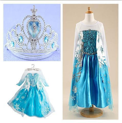 Girls Clothing - 2015 girl dress Elsa Anna princess dress costume kids party dresses summer children cosplay dress fantasia infantil Vestido - dress set5 / 3T  jetcube