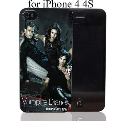 Vampire diaries - 1732-HOQE the vampire diaries Transparent Hard Case Cover for iPhone 6 6s plus 5 5s 5c 4 4s Phone Cases - for iPhone 4 4s  jetcube