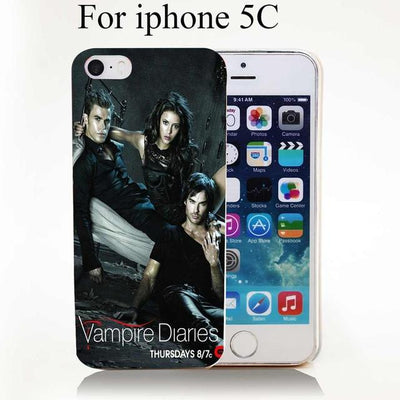 Vampire diaries - 1732-HOQE the vampire diaries Transparent Hard Case Cover for iPhone 6 6s plus 5 5s 5c 4 4s Phone Cases - for iphone 5C  jetcube