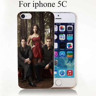 Vampire diaries - 1731-HOQE The Vampire Diaries Plastic  Transparent Hard Case Cover for iPhone 6 6s plus 5 5s 5c 4 4s Phone Cases - for iphone 5C  jetcube