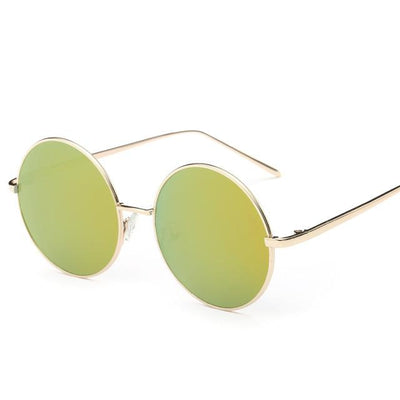 Sunglasses - 2016 Fashion Hot Vintage Round lens Sunglasses Men/women Polarized Gafas Oculos Retro Coating Sunglasses  Metal Frame Sunglasses - gold  jetcube