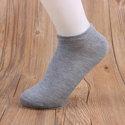 Socks - (10Pairs/lot)Wholesale Summer Solid Thin Short Women's Socks Female Cotton Low Cut Ankle Socks Ladies Colorful Cute Socks Boat - gray  jetcube