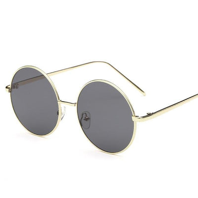 Sunglasses - 2016 Fashion Hot Vintage Round lens Sunglasses Men/women Polarized Gafas Oculos Retro Coating Sunglasses  Metal Frame Sunglasses - gray  jetcube