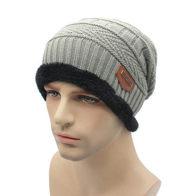 Skullies & Beanies - 2016 fashion Knit Beanie  warmer Knitted Winter Hats For Men women Caps warm Bonnet  Free Shipping - gray  jetcube