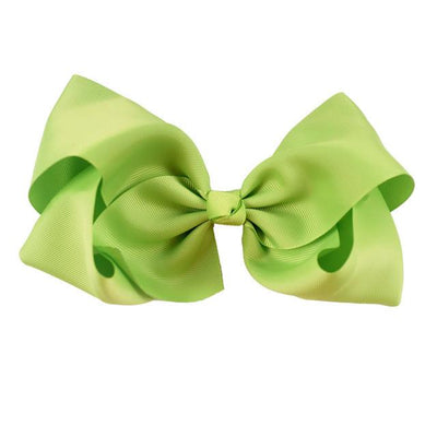 Hair Accessories - 10 pcs/lot 3 inch Grosgrain Ribbon 8 inch Big Hair Bow Boutique Hair Bow For Girls Hair Bow With Clip ZH10-14022015 - green  jetcube