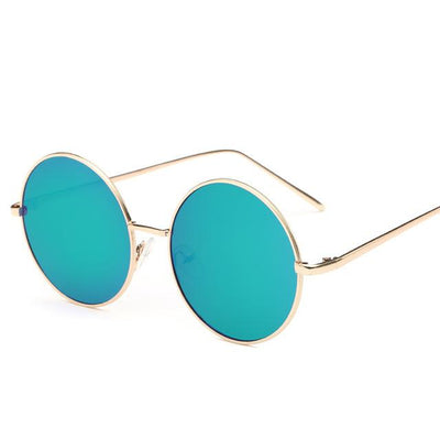 Sunglasses - 2016 Fashion Hot Vintage Round lens Sunglasses Men/women Polarized Gafas Oculos Retro Coating Sunglasses  Metal Frame Sunglasses - green  jetcube