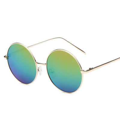 Sunglasses - 2016 Fashion Hot Vintage Round lens Sunglasses Men/women Polarized Gafas Oculos Retro Coating Sunglasses  Metal Frame Sunglasses - green blue  jetcube
