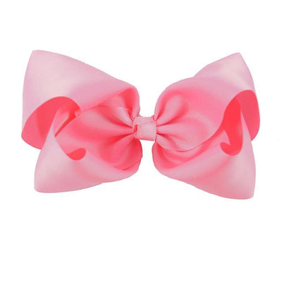 Hair Accessories - 10 pcs/lot 3 inch Grosgrain Ribbon 8 inch Big Hair Bow Boutique Hair Bow For Girls Hair Bow With Clip ZH10-14022015 - hot pink  jetcube
