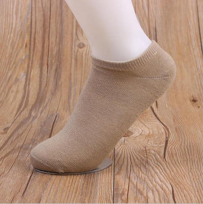 Socks - (10Pairs/lot)Wholesale Summer Solid Thin Short Women's Socks Female Cotton Low Cut Ankle Socks Ladies Colorful Cute Socks Boat - khaki  jetcube