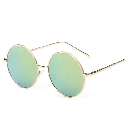 Sunglasses - 2016 Fashion Hot Vintage Round lens Sunglasses Men/women Polarized Gafas Oculos Retro Coating Sunglasses  Metal Frame Sunglasses - light green  jetcube