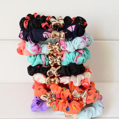 Hair Accessories - 10 Pcs/Lot Solid/ Print/ Dot Printing Elastic Hair Ties Ropes Women Hair Accessories - lip  jetcube