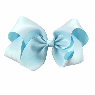 Hair Accessories - 10 pcs/lot 3 inch Grosgrain Ribbon 8 inch Big Hair Bow Boutique Hair Bow For Girls Hair Bow With Clip ZH10-14022015 - lt blue  jetcube